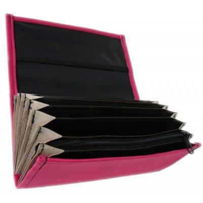 Číšnická kasírka - 1 zip, koženka,růžová