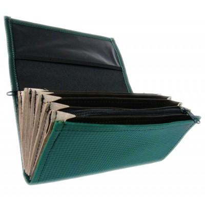Číšnická peněženka - koženka, tmavě zelená
