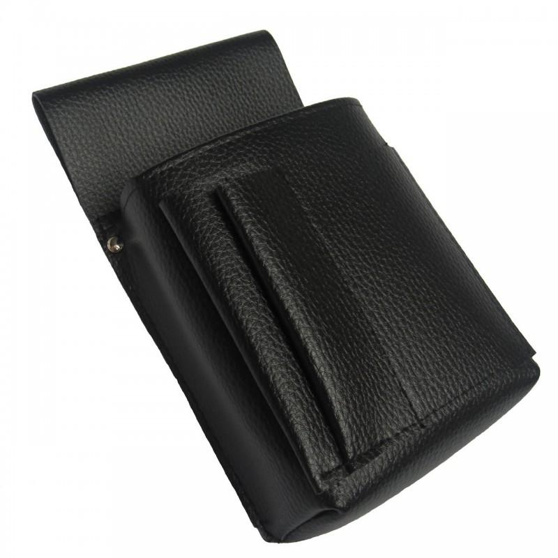 Waiter's holster, case  -  New Barex, imitation leather, black
