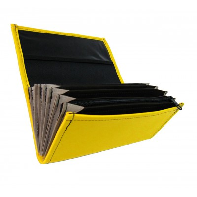 Waiter's wallet - 1 zipper, artificial leather, Yellow