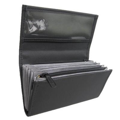 Čašnícka peňaženka - 2 zipsy, koženka, čierna