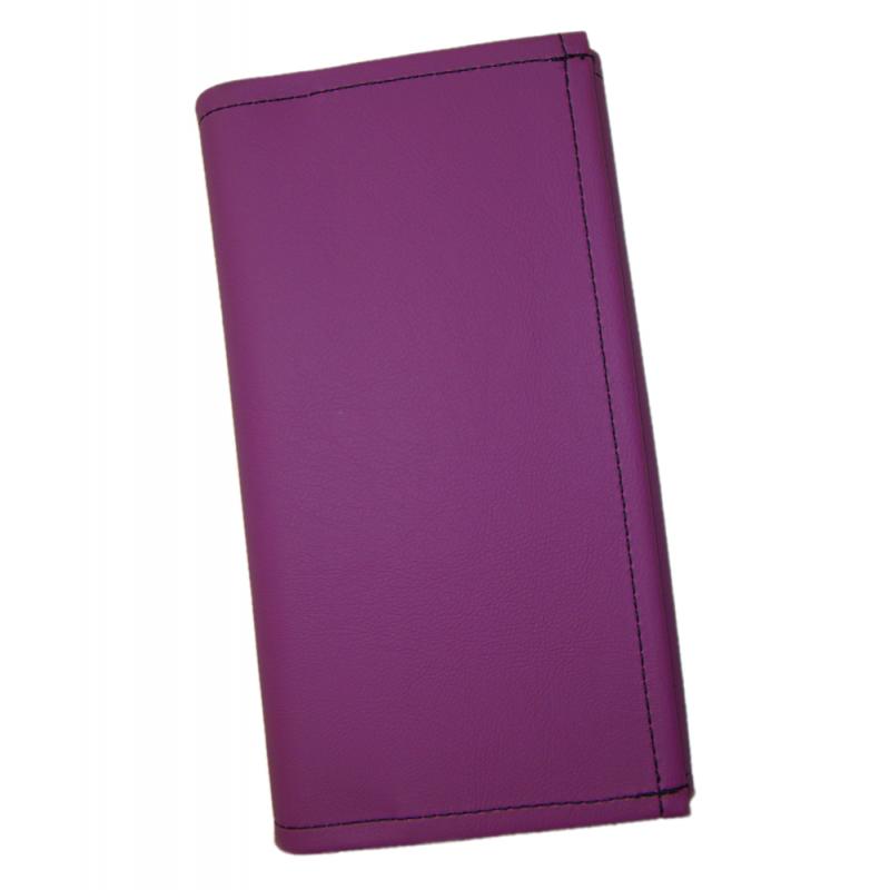Číšnická kasírka - 1 zip, koženka,fialová