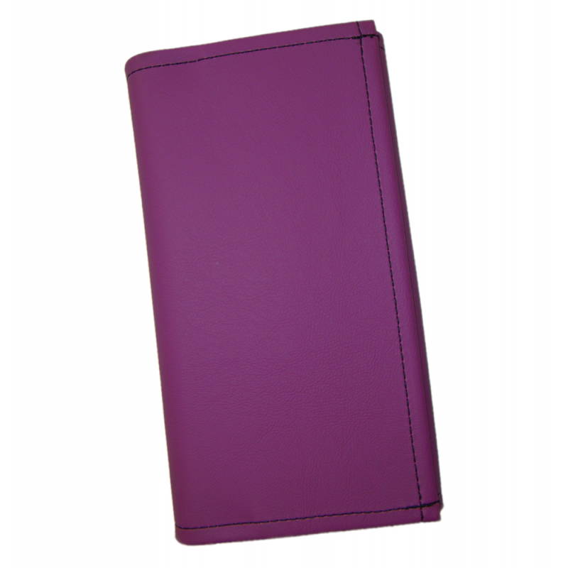 Waiter's moneybag - 2 zippers, artificial leather, violet