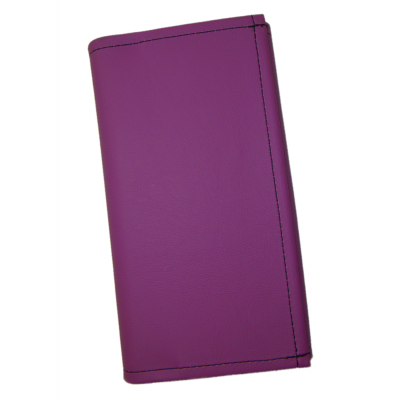 Čašnícka peňaženka - 2 zipsy, koženka, fialová