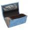 Číšnická peněženka - 2 zipy, koženka,vroubkovaná, modrá