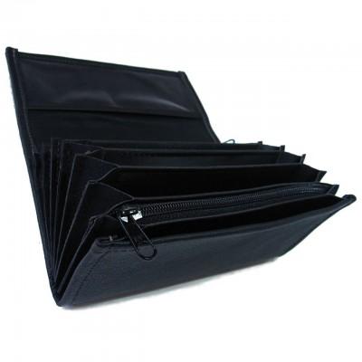 Leder-Kellnerbrieftasche - schwarz