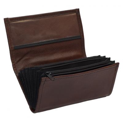 Kožená peňaženka - hnedá