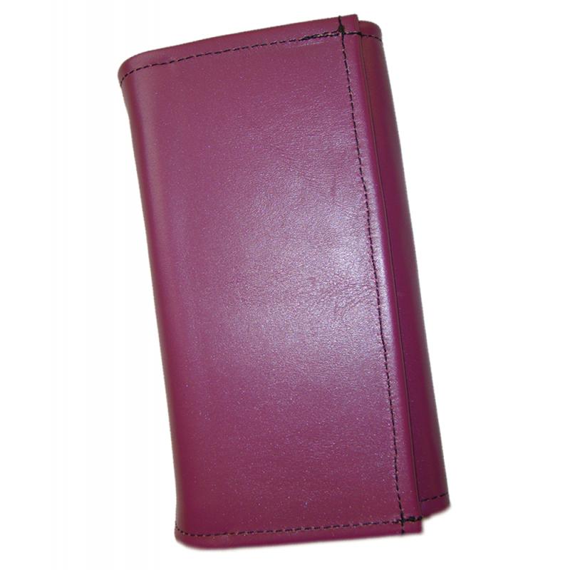 Kožená kasírka - fialová