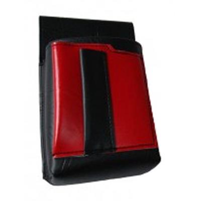 Kellnertasche, Kellnerbeutel mit einem farbigen Element - Kunstleder, rot