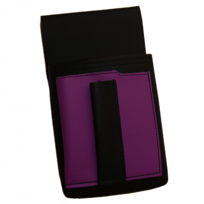 Waiter's holster, pouch with a colour element - artificial leather, violet