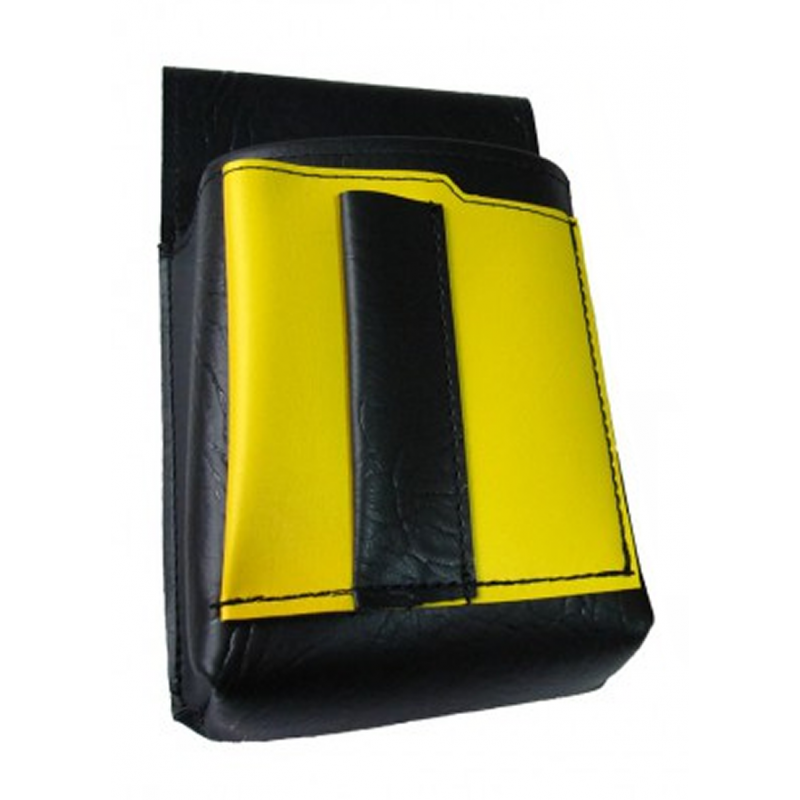 Waiter's holster, pouch with a colour element - artificial leather, yellow