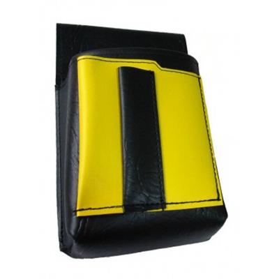 Kellnertasche, Kellnerbeutel mit einem farbigen Element - Kunstleder, gelb