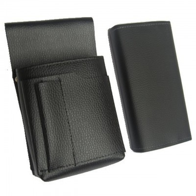 Waiter's kit - wallet (black, imitation leather, 2 zippers) and holster New Barex