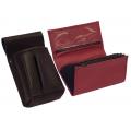 Lederkomplett :: Brieftasche (rot) + Kellnertasche