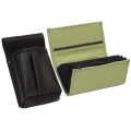 Leather set :: pocketbook (olive green) + holster
