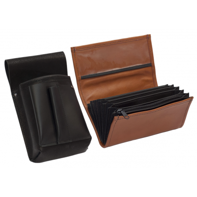 Leather set :: pocketbook (terracotta) + holster
