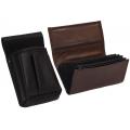 Leather set :: pocketbook (brown) + holster