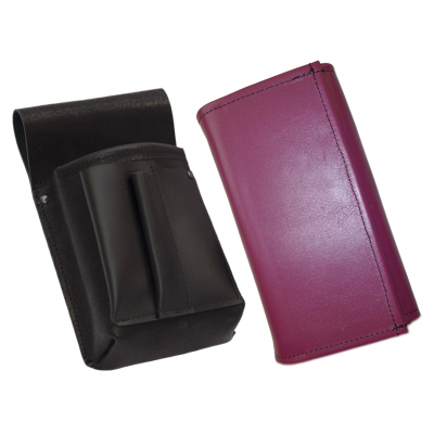 Leather set :: pocketbook (violet) + holster
