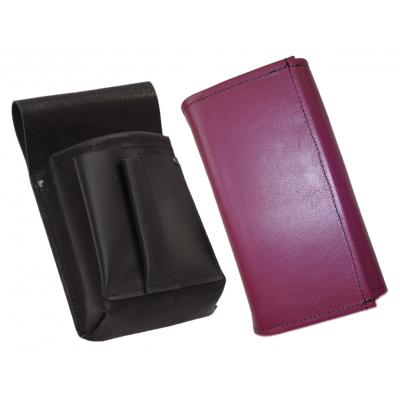 Lederkomplett :: Brieftasche (lila) + Kellnertasche