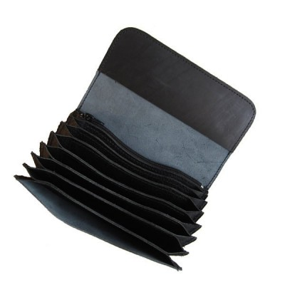 Celokožená peňaženka - čierna