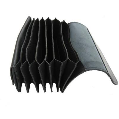 Celokožená peněženka Harmonika - černá